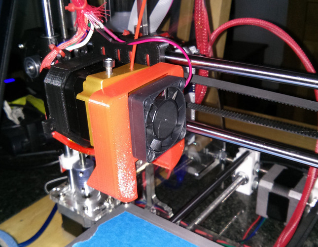 Fan shroud for Prusa i3 with MK8 extruder  3D Print 21455
