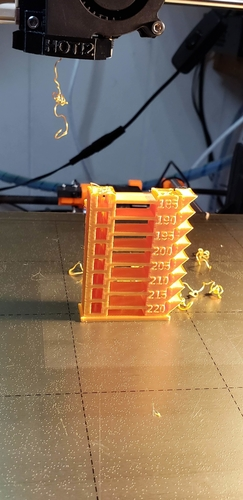 Parametric temperature tower with Slic3r support 3D Print 214622