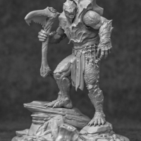 Small Turtle Barbarian Statue Kit 3D Printing 214726