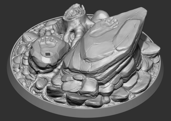 Turtle Barbarian Statue - Base 3D Print 214736