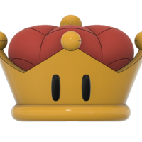 Small Super Crown (Bowsette)  3D Printing 214764