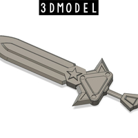 Small Arcade Riven Sword 3D Printing 214779