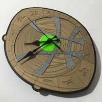 Small Dr Strange Eye of Agamotto Clock 3D Printing 214991