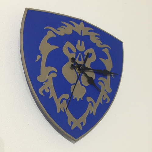 World Of Warcraft Emblem of the Alliance Clock 3D Print 214992