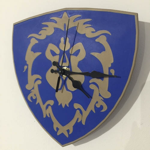 World Of Warcraft Emblem of the Alliance Clock 3D Print 214993