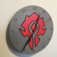 Small World Of Warcraft Emblem of the Horde Clock 3D Printing 215009