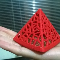 Small Wired Pyramid 3D Printing 21509