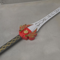 Small Power rangers Legacy Red Ranger Sword 3D print model 3D Printing 215104