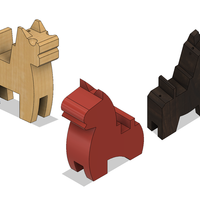 Small Japanese Toy Horses 3D Printing 215275