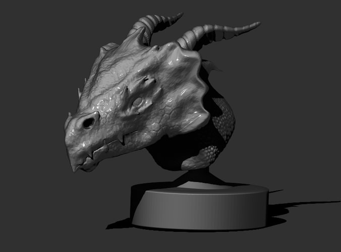 Dragon Head 3D Print 21544