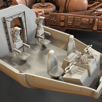 Small Millenium Falcon 3D Printing 215474
