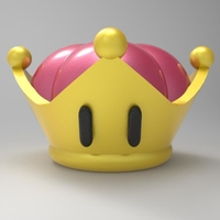 Small Bowsette crown 3D print model 3D Printing 215493