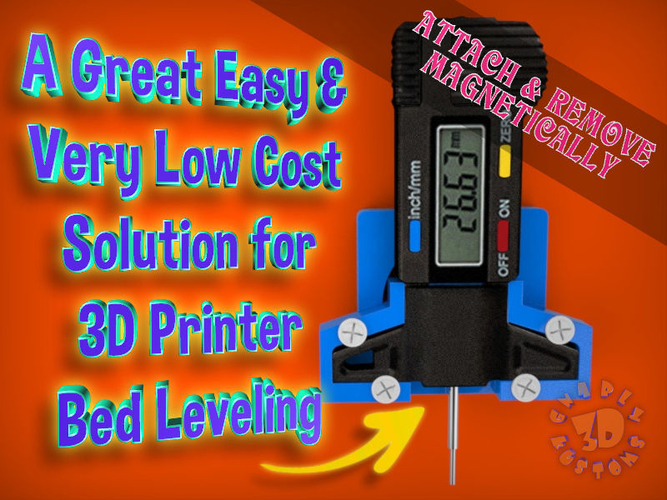 An Easy & Low Cost Solution for 3D Printer Bed Leveling 3D Print 215550