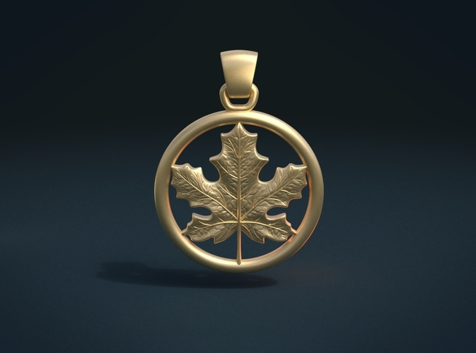 Maple Pendant 3D Print 215579