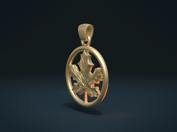 Maple Pendant 3D Print 215580