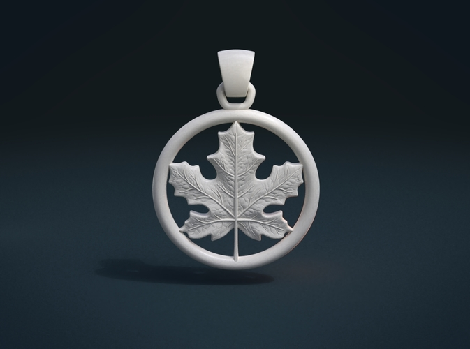 Maple Pendant 3D Print 215582