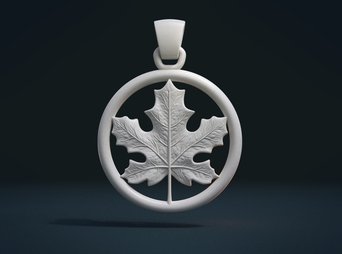 Maple Pendant 3D Print 215584