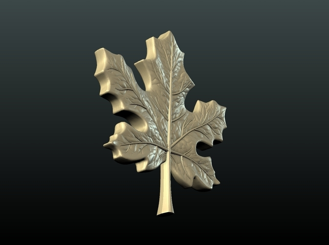 Maple Pendant 3D Print 215595