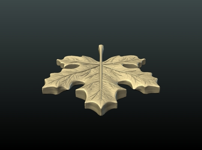 Maple Pendant 3D Print 215598