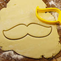 Small Mustache 2 cookie cutter for professional 3D Printing 215710
