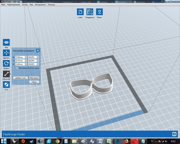 Set hat glasses mustache cookie cutter for professional 3D Print 215716