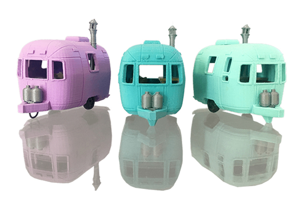 Medium Mini Classics Airstream Trailer 3D Printing 215801