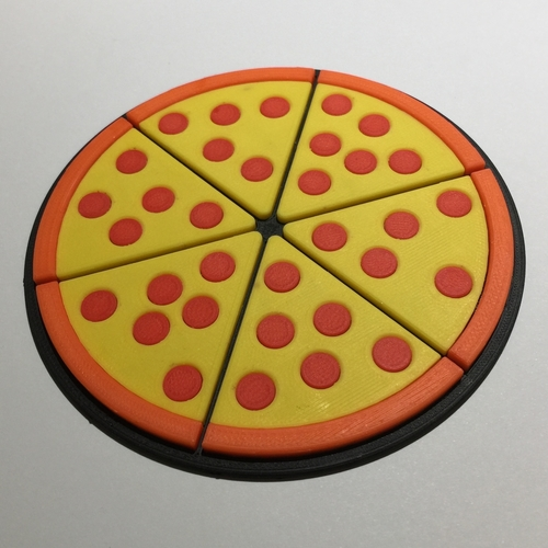 Pizza Coaster 3D Print 215854