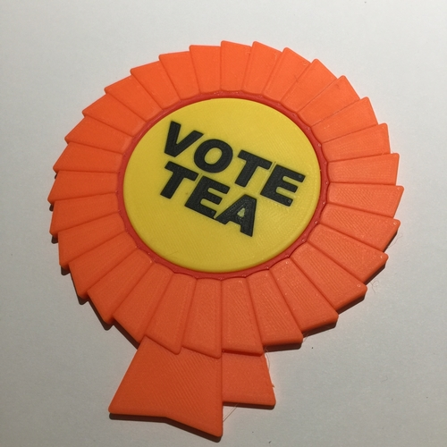 Vote Tea Coaster 3D Print 215855