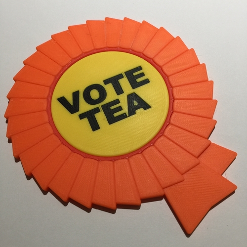 Vote Tea Coaster 3D Print 215856