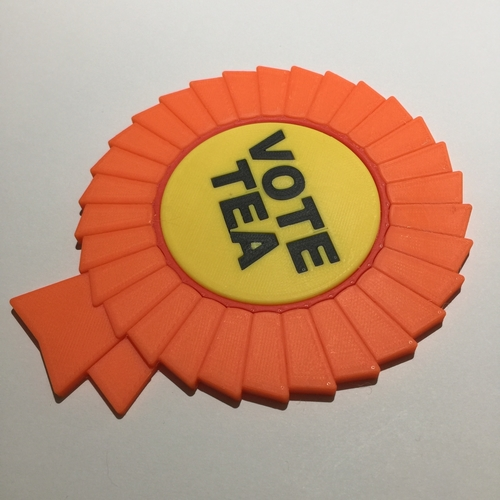 Vote Tea Coaster 3D Print 215857