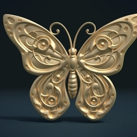 Small Butterfly Relief 3D Printing 215997