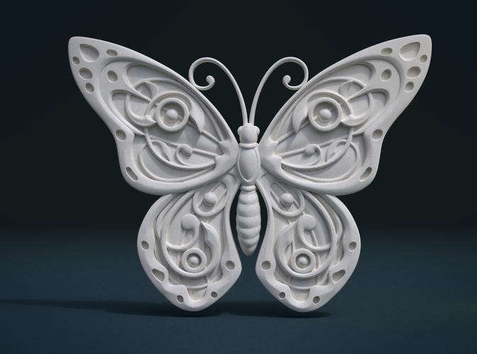 Butterfly Relief 3D Print 215998