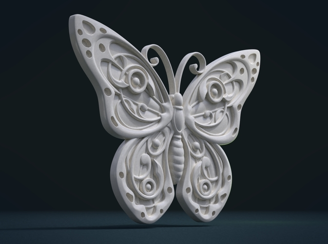 Butterfly Relief 3D Print 215999