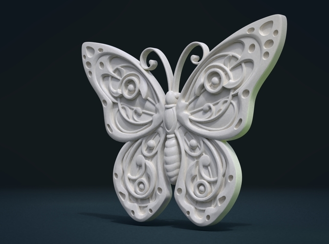 Butterfly Relief 3D Print 216000