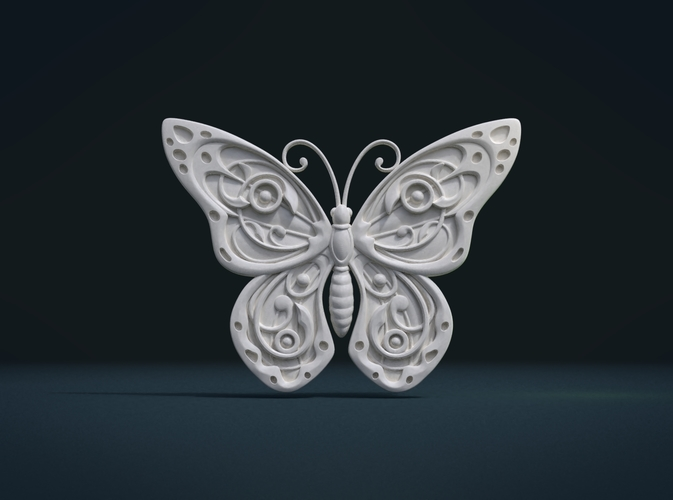Butterfly Relief 3D Print 216001