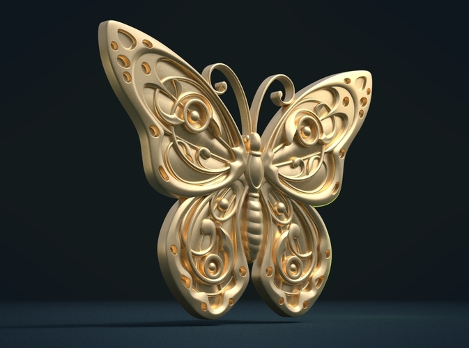 Butterfly Relief 3D Print 216002