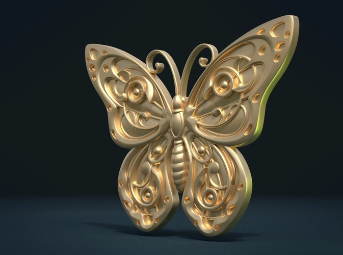 Butterfly Relief 3D Print 216003