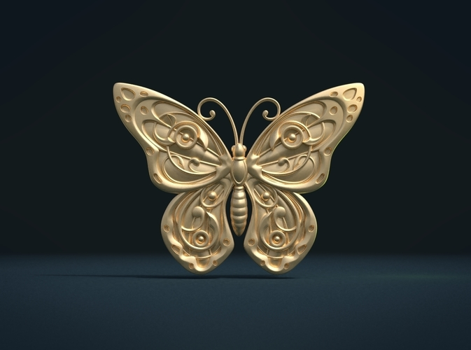 Butterfly Relief 3D Print 216004