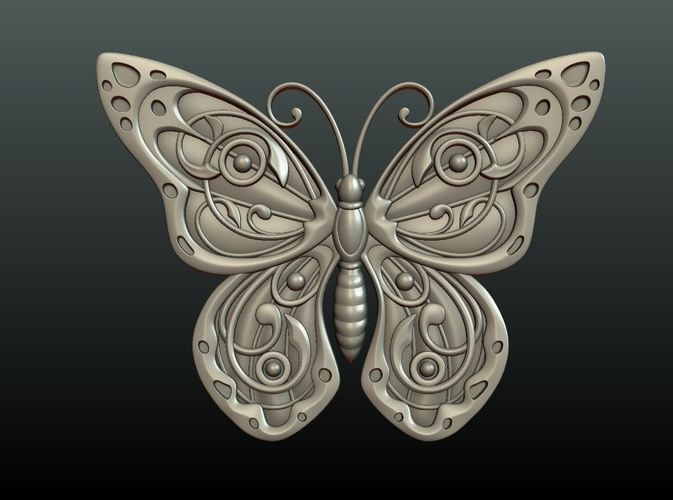 Butterfly Relief 3D Print 216005