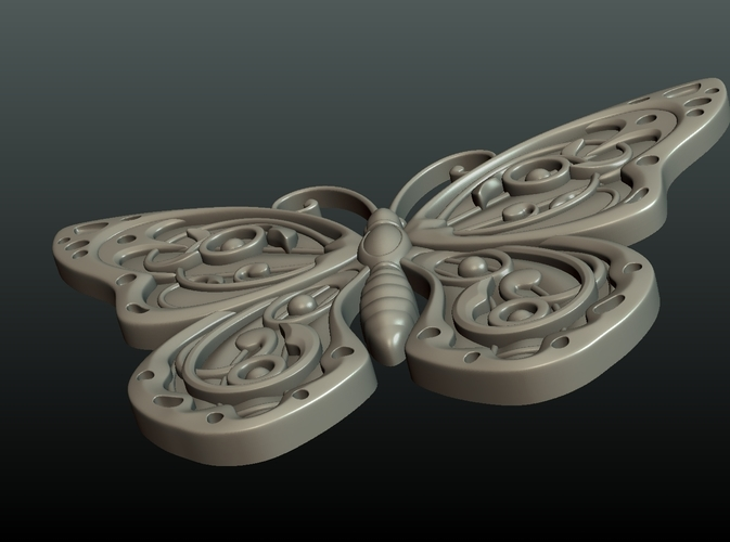 Butterfly Relief 3D Print 216006