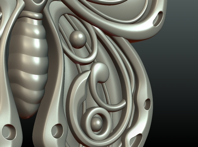 Butterfly Relief 3D Print 216012