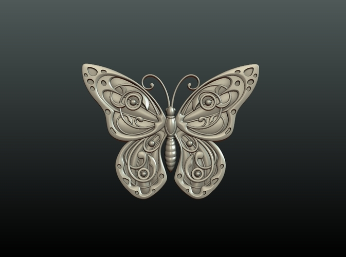 Butterfly Relief 3D Print 216013