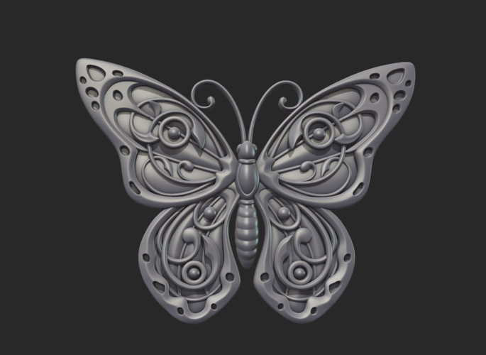Butterfly Relief 3D Print 216015