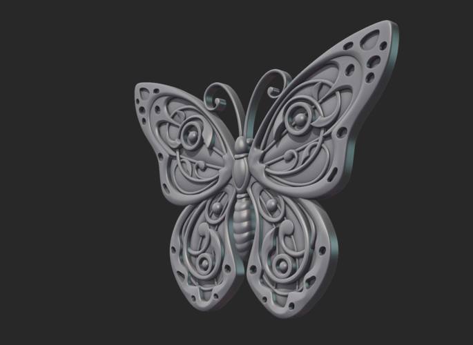 Butterfly Relief 3D Print 216016