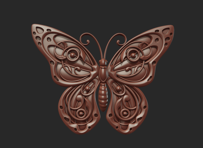 Butterfly Relief 3D Print 216018