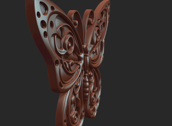 Butterfly Relief 3D Print 216020