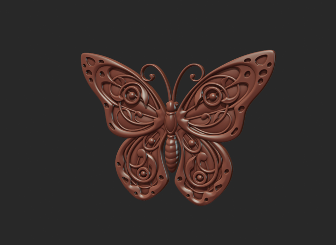 Butterfly Relief 3D Print 216021