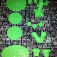 Small multi part tree tabletop gaming 3D Printing 216204