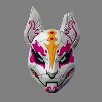 Small Fortnite Drift Mask Special Kitsune Cosplay STL File  3D Printing 216259