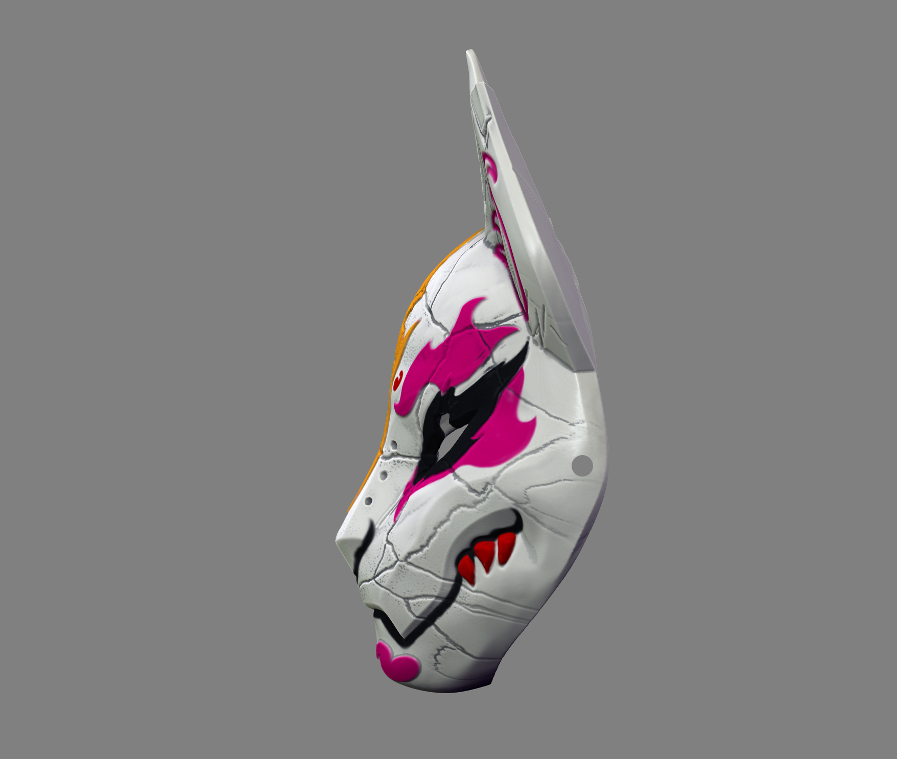 3d Printed Fortnite Drift Mask Special Kitsune Cosplay Stl File By